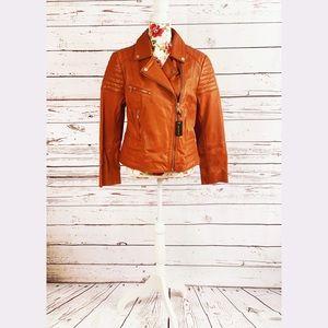 Barney's Original Leather Biker Jacket